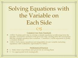 solving equations with the variable on each side math 2 solving equations with the variable on each side math calculator calculus