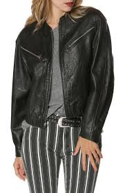 paige giana leather moto jacket in black taking inspiration from the vintage moto jacket