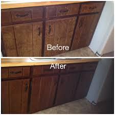 Minwax Charcoal Grey My Worn Kitchen Cabinets Stained With Minwax Gel Stain In Hickory