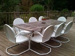 6 classic retro metal lawn white chairs furniture