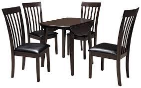 Ashley Signature Design Hammis 5 Piece Round Drop Leaf Table Set