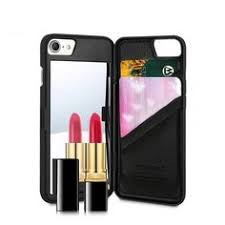 wallet card slot cover makeup mirror kickstand phone case for iphones