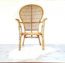 incredible bamboo arm chair vintage bentwood bamboo rattan high back fan wicker fan back chair