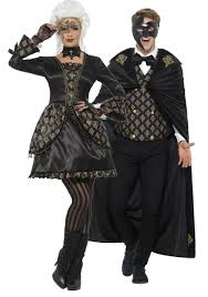 Couples Deluxe Masquerade Fancy Dress Costume. Previous. Image 1