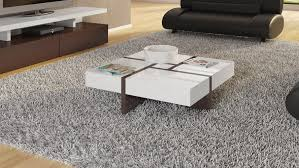mcintosh square coffee table with storage in white high gloss and ebony accents zuri furniture