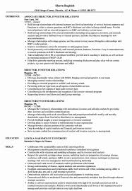 20 Investor Relations Resume