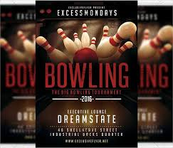 Bowling Event Flyer Template 9 Bowling Party Flyers Design Templates Free Premium