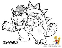 Super Mario Bowser Coloring Pages