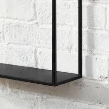 wall mounted geometric iron frame wall