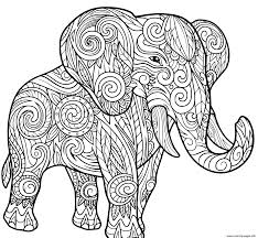 All time favorite farm animals coloring pages for kids: Elephant For Adult Animals Coloring Pages Printable