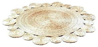 3 foot round rugs rug handmade crochet natural hemp transitional jute