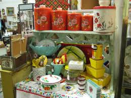 Red And Yellow Kitchen C Dianne Zweig Kitsch N Stuff Antique Booth Display Ideas
