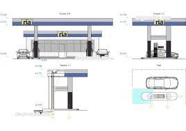 Petrol Station Layout Design Petrol Station Cad Drawings Free Dwg Plan Elevation