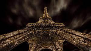1366x768 Eiffel Tower, Paris, Worm View ...