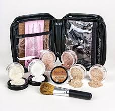 l kit with brush case full size mineral makeup set bare skin powder foundation cover