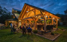 grandfather vineyard winery timber frame pavilion