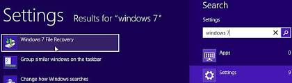 windows 8 start screen settings search type windows 7 and