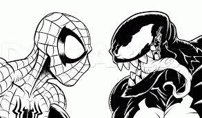Small Picture Marvelous Idea Venom Coloring Pages Spiderman Vs Venom Coloring