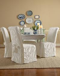 Living Room Chair Slipcovers Sure Fit Slipcovers Super Easy Way To Pretty Up Those Dining