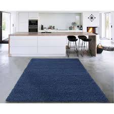 cozy collection navy blue 7 ft x 9 ft indoor area rug
