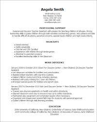 Preschool Teacher Assistant Job Description Resume Daycare Drawing