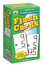 Amazon Com Multiplication 0 12 Flash Cards Grades 3 5 Carson