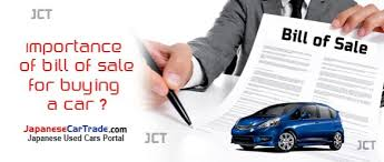 What Is The Importance Of Bill Of Sale For Buying A Car
