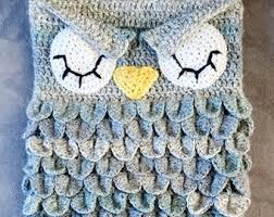 Free Owl Cocoon Crochet Pattern Custom Baby Blanket Crochet Owl Etsy
