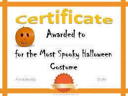 Costume Contest Certificate Template 13 Best Photos Of Halloween Certificates Printable