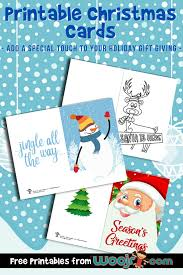 Kids will enjoy coloring in the cards to send to their favorite friends and relatives. Printable Christmas Cards Woo Jr Kids Activities