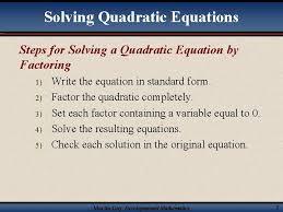 3 6 solving quadratic equations by