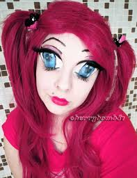 creepy rag doll makeup closed eyes anime manga big eyes doll crazy makeup