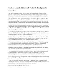 News Story Outline Template Sports News Writing Example