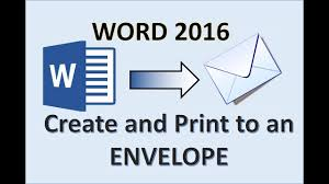 Word 2016 Printing An Envelope How To Print Address On Envelopes From Printer In Hp Canon Epson