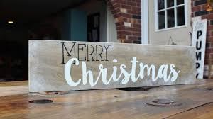 Wooden Christmas Sign With Lights How To Make A Merry Christmas Decor Sign Diy Home Tutorial Guidecentral