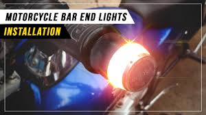Bar End Lights For Pulsar Motorcycle Bar End Lights Installation Video