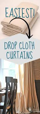 Drop Cloth Curtains Tutorial 58 Best Curtains Window Coverings Images On Pinterest Window