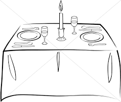 table clipart black and white. potluck food clip art black and white table clipart