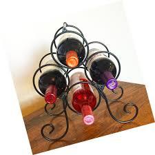 superiore livello roma 4 bottle countertop wine rack free standing metal bott