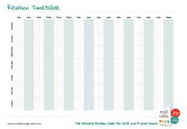 Exam Revision Timetable Template Raise Your Grade Revision Planners