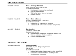 Resume First Time Job Resume Sample Fastweb Student College