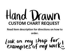 Custom Hand Drawn Anchor Chart Request