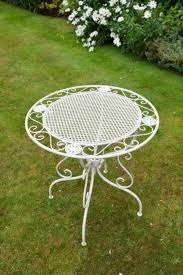 white iron garden furniture. beautiful garden sarah white iron bistro style garden patio table to white furniture