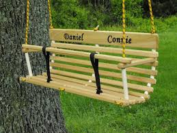 personalized toddler swing two twins handcrafted wood