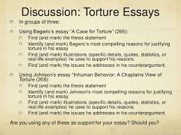week class ewrt  5 discussion torture essays