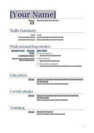 Resume Templates Word Doc Free Download Word Doc Resume Template