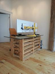 office desk europalets endsdiy. Office Pallet Desk With Glass Top Europalets Endsdiy W