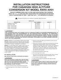 Rheem Installation Manual Manualzz Com