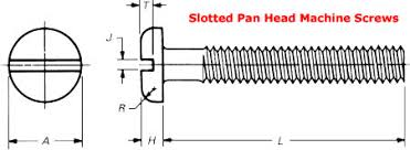 Slotted Screw Size Chart Slotted Pan Head Machine Screw Dimensions