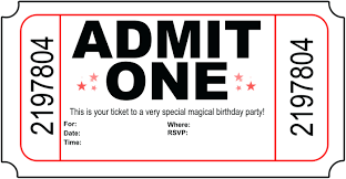 Invitation Ticket Template template Invitation Ticket Template Birthday And Get Inspired To 28